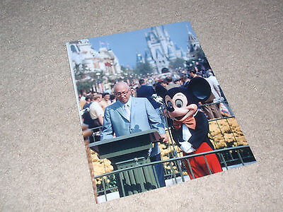 Walt Disney World opening day 1971 Roy and Mickey photo 8x10 color glossy