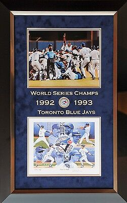 Blue Jays World Series Limited Edition #93 Lithograph Pat Borders Autographed