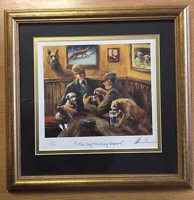 """mick cawston framed limited edtion print signed """"the dog training expert"""""""