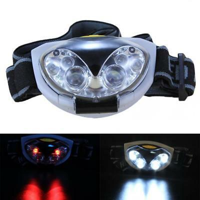 6 LED 3 x AAA Headlight Torch Waterproof Headlamp Torch White / Red Light