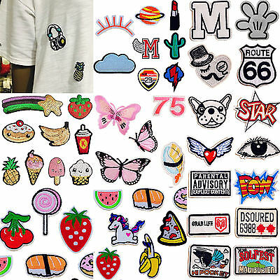 Yh Embroidery Fabric Sticker Sew Iron On Patch Badge Bag Hat Jeans Applique DIY