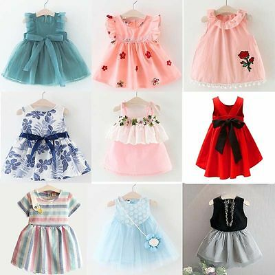 Flower Girl Princess Dress Summer Kids Baby Party Wedding Pageant Formal Dresses