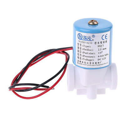 """G1/4"""" Solenoid Valve Plastic Normally Closed 2 Way 12V DC 0-120PSI 0-0.8MPa"""