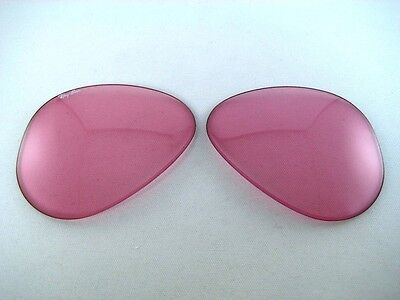 N.O.S VINTAGE RAY BAN B&L 62mm PINK CHANGEABLE REPLACEMENT SUNGLASSES LENSES