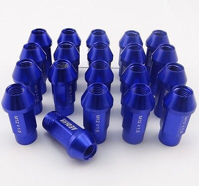 Wheel Lug Nuts M12X1.5 50mm For Honda Civic Integra Acura 20PCS Blue