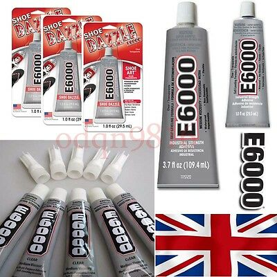 E6000 GLUE INDUSTRIAL STRENGTH 9ml CRAFT JEWELLERY RHINESTONE GEM DIY BLING
