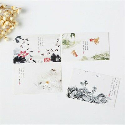 28pcs/lot Chinese Ink painting design Greeting Cards Business Gift Card Set