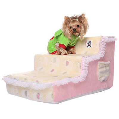 Chic Pet Stairs Cute Elephant Printed Kitten Puppy Sofa Ladder Comfy Indoor Ramp