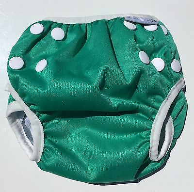 NEW! spots n bots swim nappy - GREEN small NB-8kg (washable/reusable)