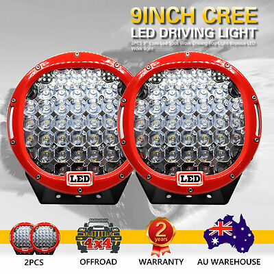 2 PCS 9inch 99999W Cree Led Spot Work Driving Lights OFFROAD Hot Sale Red Lights