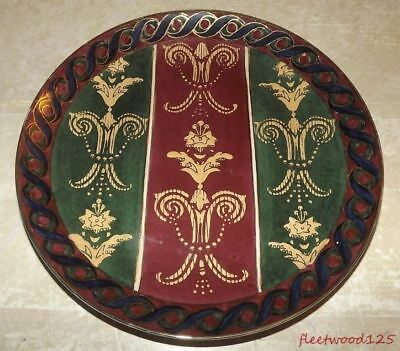 Decorative Andrea by Sadek Multi Color Gold Accent Plate - 10.25""