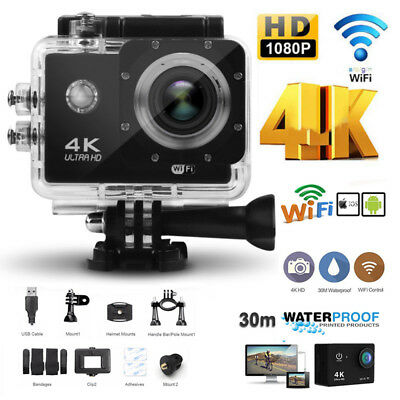 4K 2 '' Ultra HD 1080P Sport Kamera WiFi Cam-Action-Kamera DV Videorecorder 12MP