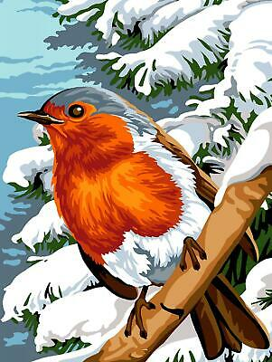 Margot de Paris Tapestry/Needlepoint Canvas – Winter Feathers (Robin)
