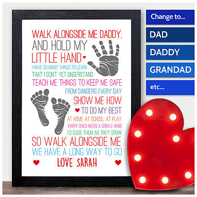 FATHERS DAY DADDY GRANDAD UNCLE Gift Birthday Dad Personalised Word Art