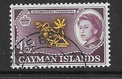 CAYMAN ISLANDS SG167 1962 1½d YELLOW & PURPLE FINE USED