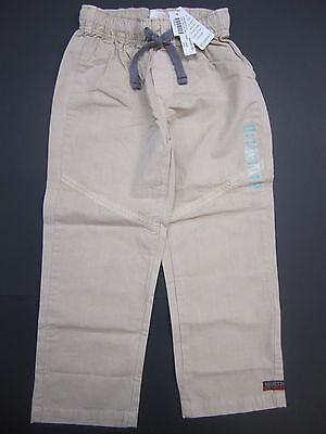 Naartjie boys size 6 Essential Pieced Twill Pants Fawn Brown Tan NWT