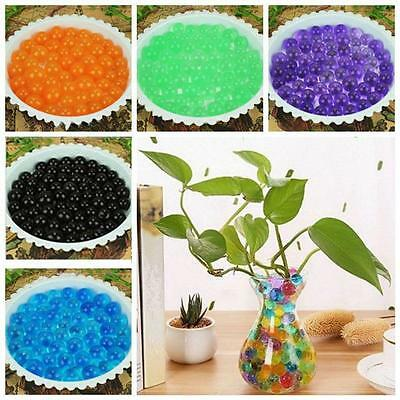 1000pcs Water Plant Flower Jelly Crystal Soil Mud Water Pearls Gel Beads Ball AB