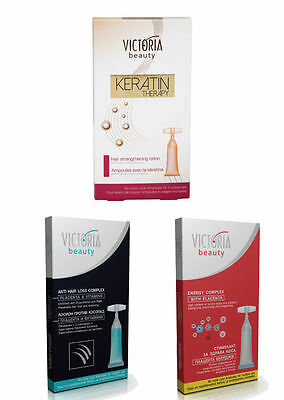 Victoria Beauty Anti Hair Loss & Energy Complex + Keratin Therapy Lotion 5x10 ml