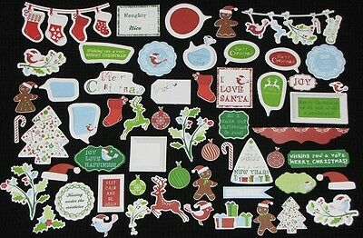 Kaisercraft 'SANTA'S LIST' Collectables Die Cut Shapes Xmas KAISER Delete 1 left
