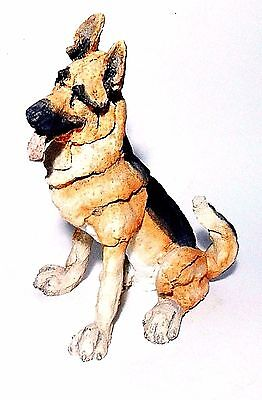 "8.5"" Tall 2.4lb A Breed Apart GERMAN SHEPARD Dog Handcrafted Sculpture Figurine"