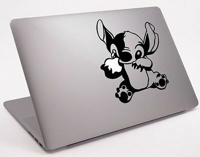 Lilo and Stitch  Apple Macbook Air/Pro/Retina vinyl sticker. Black laptop decal