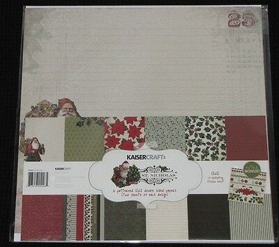 "Kaisercraft 'ST NICHOLAS' 12x12"" Paper Pk+ Stickers KAISER *Deleted 3 left*"