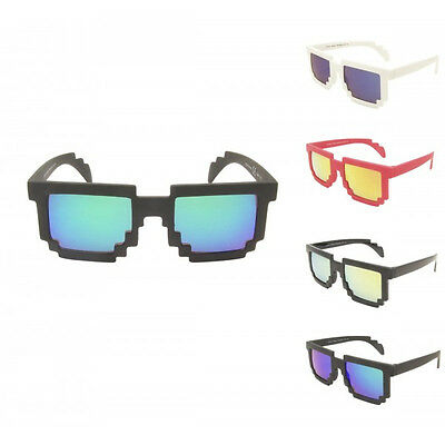 Kids Boys Girls Retro Pixel Arcade 80's Sunglasses Full UV400 - 4 to 10 Years