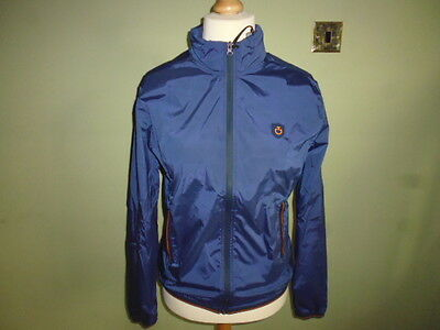 Cavalleria Toscana Ladies Ultra Light Rain Jacket size XL UK 14 navy blue hooded