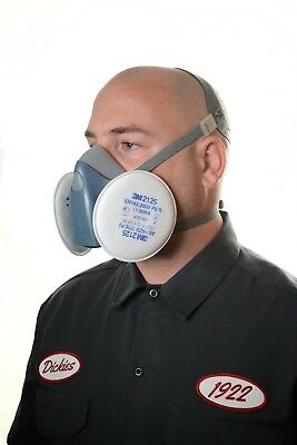 3M 7501 Small Half Face Premium Reusable Dust Mask / Respirator & 2125 Filters