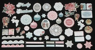 Kaisercraft 'SILVER BELLS' Collectables Die Cut Shapes Christmas KAISER *NEW*