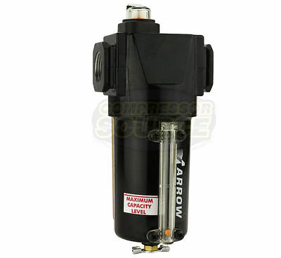 """Arrow Pneumatic 3/4"""" Compressed Air In Line Oil Coalescing Filter Oilesser New"""