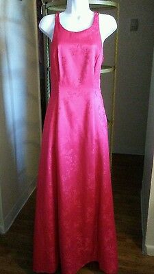 Long Formal Prom Red Cocktail Party Ball Gown Evening Bridesmaid Dress Size 7/8