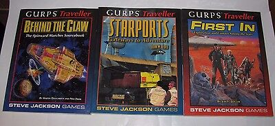 Lot (4) Gurps Traveller Paperback Rpg Books First In Starports Behind The Claw
