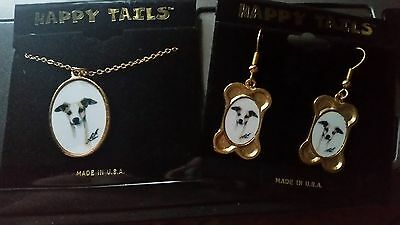 Italian Greyhound New Necklace and Earrings