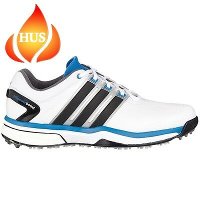 Adidas Golf 2015 Mens Adipower Boost Shoes White Core Black UK 10.5 Wide
