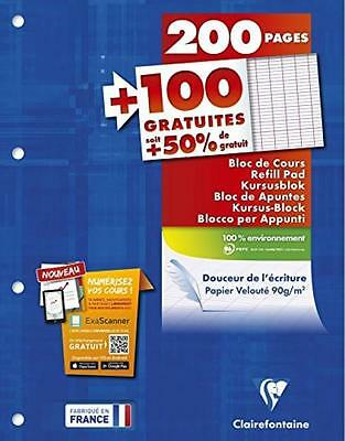 Clairefontaine Metric 65819C Bloc notes 300 feuilles blanches