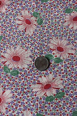 Genuine Old Vintage Cotton Floral Feedsack Material Fabric