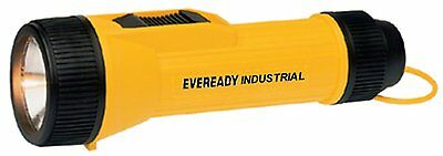 NEW ~ Lot of 4 Energizer Heavy Duty Industrial Flashlights, Yellow ~ Free S/H