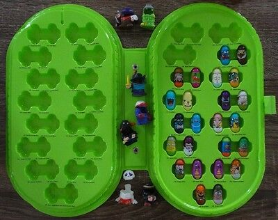 Mighty Beanz Lot of 24 w/Green Collectors Case! Some Pokemon!