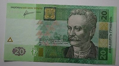 2011Ukraine 20 Hryven Foreign Paper Money Banknote Currency,europe,uncirculated