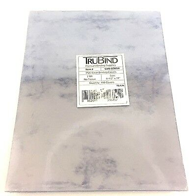 TruBind 7 Mil 8-1/2 x 11 Inches PVC Binding Covers Pack of 100 Clear