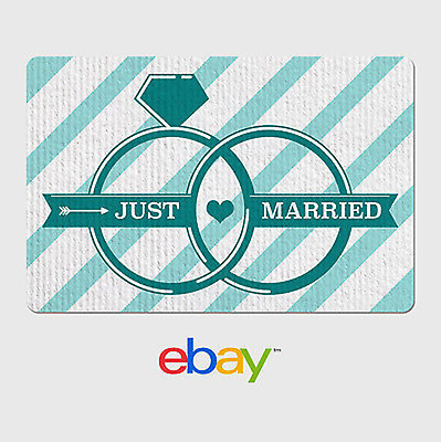 eBay Digital Gift Card Wedding Just Married - Email Delivery