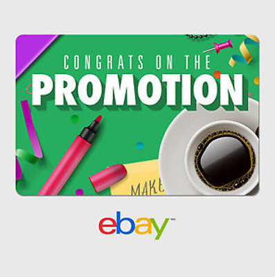 eBay Digital Gift Card - Congrats Promotion at Work -  email delivery