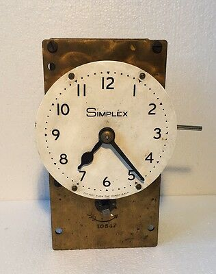 Vintage Antique Simplex Clock Unit