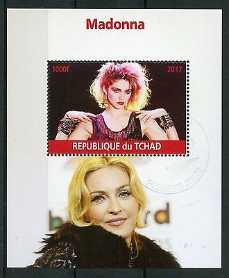 Chad 2017 CTO Madonna 1v M/S Pop Stars Music Celebrities Stamps
