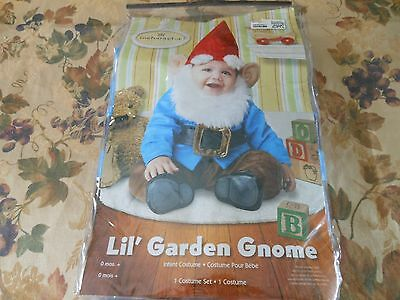 incharacter- Lil' Garden Gnome infant costume Set, 0-6 months + XSMALL NEW