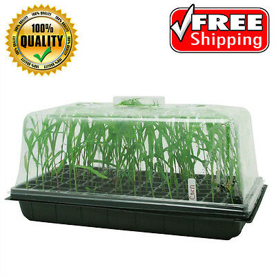 """Seedling Starter Cloning Propagation Tray, 7"""" Tall Dome Went Control, 10"""" x 20"""""""