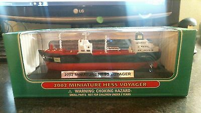 2002 HESS Mini VOYAGER SHIP Mint in Mint Box Miniature Truck Series