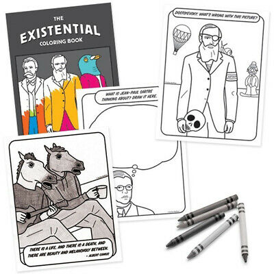 Existential Coloring Book Fun Funny Novelty Color Colour