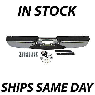 Rear Bumper Chrome FOR 2001-2007 F250 F350 F450 Super Duty W//Sensor Hole